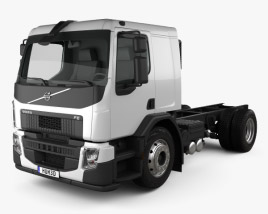 3D model of Volvo FE Chassis Truck 2-axle 2013