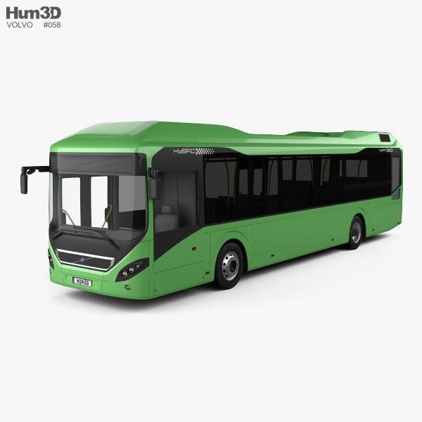 Volvo 7900 Hybrid bus 2011 3D model