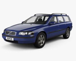 3D model of Volvo V70 2000