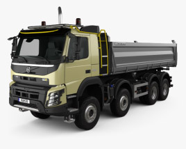 3D model of Volvo FMX Tipper Truck 2013