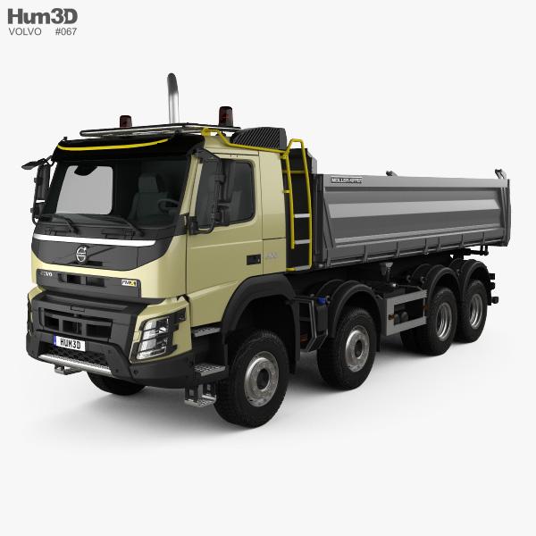 Volvo FMX Tipper Truck 2013 3D model