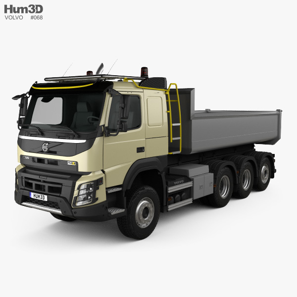 Volvo FMX Tridem Tipper Truck 2013 3D model
