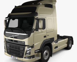 3D model of Volvo FM 410 Tractor Truck 2013