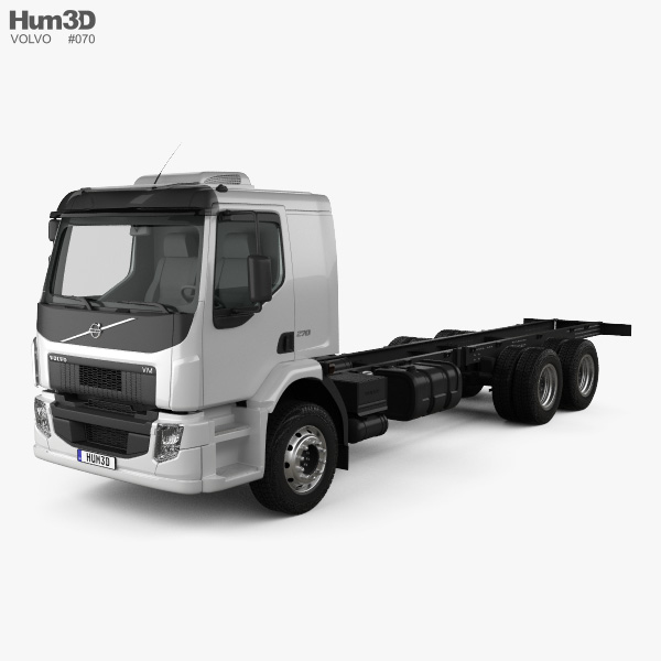 3D model of Volvo VM 270 Chassis Truck 3-axle 2014