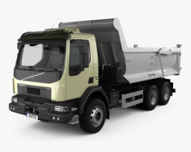 3D model of Volvo VM 330 Tipper Truck 3-axle 2014