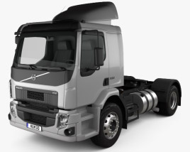3D model of Volvo VM 330 Tractor Truck 3-axle 2014