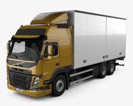 3D model of Volvo FM 370 Box Truck 2013