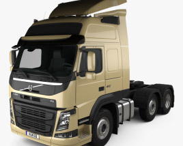 3D model of Volvo FM 460 Tractor Truck 2013