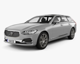 3D model of Volvo V90 T6 Inscription 2016