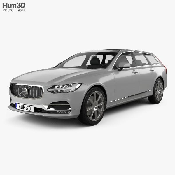 Volvo V90 T6 Inscription 2016 3D model