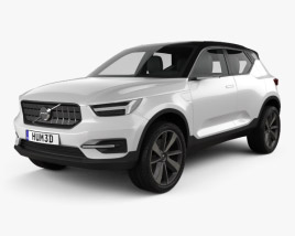 3D model of Volvo 40.1 2016