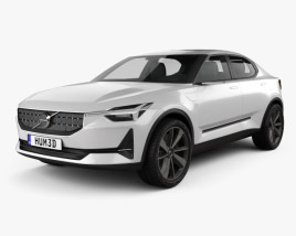 3D model of Volvo 40.2 2016