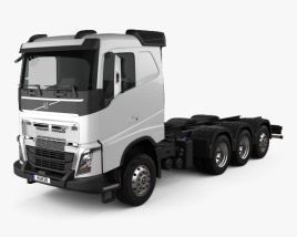 3D model of Volvo FH Chassis Truck 4-axle 2016