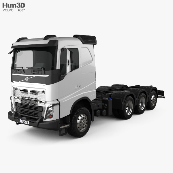 Volvo FH Chassis Truck 4-axle 2016 3D model