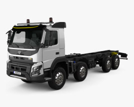 3D model of Volvo FMX Chassis Truck 4-axle 2013