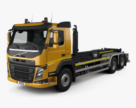 Volvo FM 410 Skip Loader Truck 2013 3D model