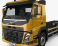 Volvo FM 410 Skip Loader Truck 2013 3d model
