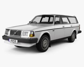 3D model of Volvo 245 1984
