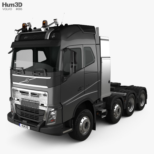 Volvo FH 750 Globetrotter Cab Tractor Truck 4-axle 2014 3D model
