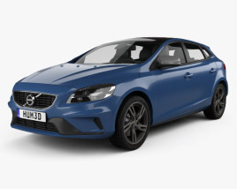 3D model of Volvo V40 T5 R-Design 2016