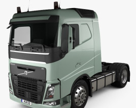 3D model of Volvo FH 420 Sleeper Cab Tractor Truck 2-axle 2012