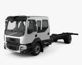 3D model of Volvo FL Crew Cab Chassis Truck 2013