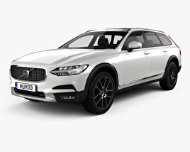 3D model of Volvo V90 T6 Cross Country 2016