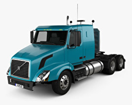 3D model of Volvo VNL (430) Tractor Truck 2011