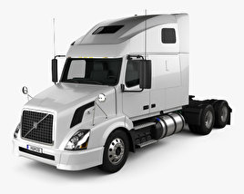 3D model of Volvo VNL (610) Tractor Truck 2011