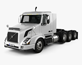 3D model of Volvo VNX (300) Tractor Truck 4-axle 2010