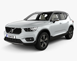 3D model of Volvo XC40 with HQ interior 2017