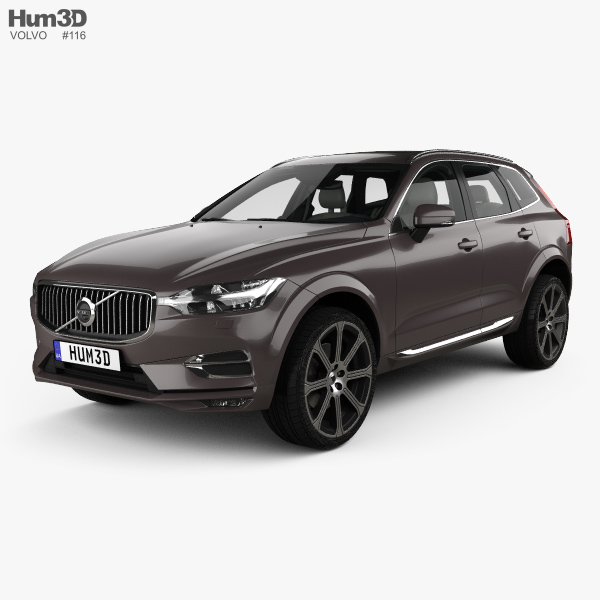 3D model of Volvo XC60 T6 Inscription with HQ interior 2017