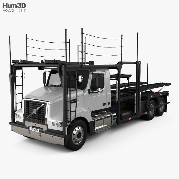 3D model of Volvo VAH (200) Car Carrier Truck 2015
