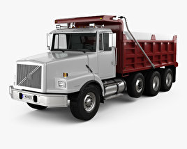 3D model of Volvo WG Dump Truck 4-axle 2007