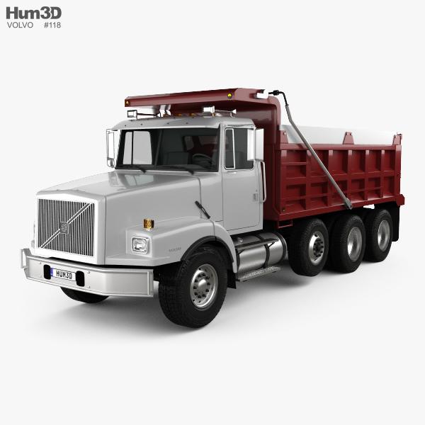Volvo WG Dump Truck 4-axle 2007 3D model