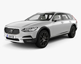 3D model of Volvo V90 T6 Cross Country with HQ interior 2016