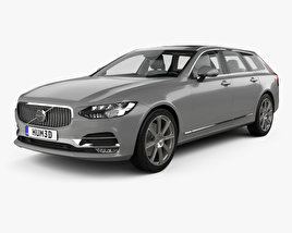 3D model of Volvo V90 T6 Inscription with HQ interior 2016