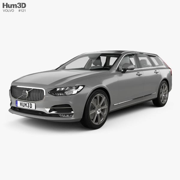 Volvo V90 T6 Inscription with HQ interior 2016 3D model