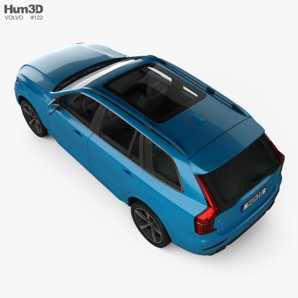 Volvo XC90 D5 R-Design 2016 3D model