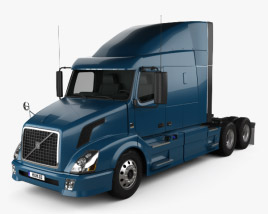 3D model of Volvo VAH (630) Tractor Truck 2012