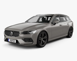 3D model of Volvo V60 T6 Inscription 2018