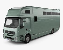3D model of Volvo FE Roelofsen-Raalte RR2 Horse Truck 2017