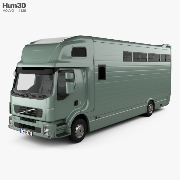 Volvo FE Roelofsen-Raalte RR2 Horse Truck 2017 3D model