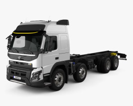 3D model of Volvo FMX Globetrotter Cab Chassis Truck 4-axle 2013
