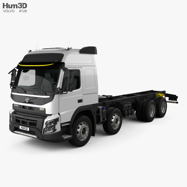 Volvo FMX Globetrotter Cab Chassis Truck 4-axle 2013 3D model