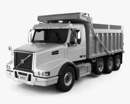 3D model of Volvo VHD Dump Truck 4-axle 2018