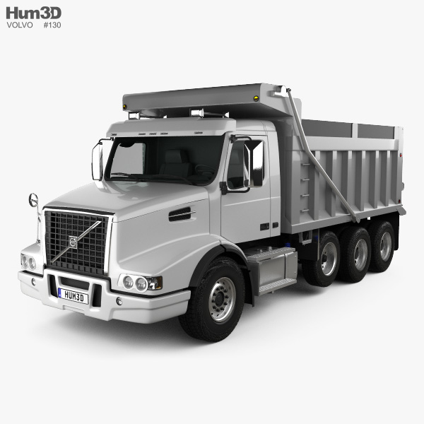 Volvo VHD Dump Truck 4-axle 2018 3D model