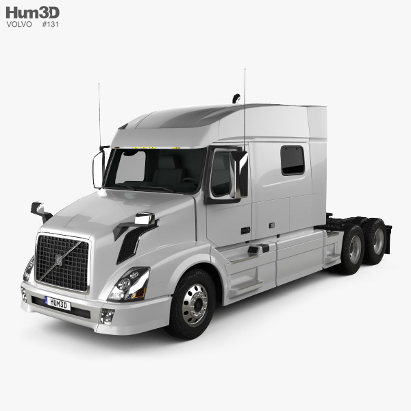 Volvo VNL Low Roof Sleeper Cab Tractor Truck 2011 3D model