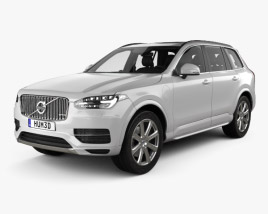 3D model of Volvo XC90 T8 with HQ interior with Engine 2015