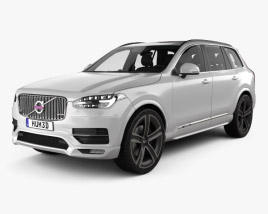 3D model of Volvo XC90 Heico with HQ interior 2016
